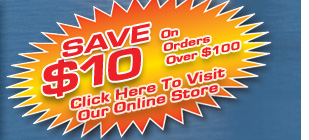 Click the $10 Off image to visit our On-line Parts Store where you can find chipper knives, stump grinder teeth, poly chain belts, and a wide variety of other parts for wood chippers and stump grinders